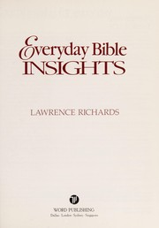 Cover of: Everyday Bible insights