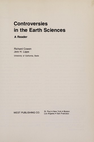 Controversies in the earth sciences by Richard Cowen