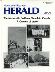 Cover of: The Mennonite Brethren Church in Canada |