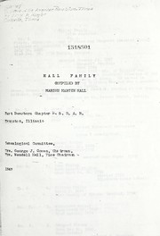 Cover of: Hall, Moore, Barnard, Hay, and Finley families