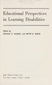 Cover of: Educational perspectives in learning disabilities. | Donald D. Hammill