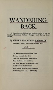 Cover of: Wandering back | Henry Franklin Hammack