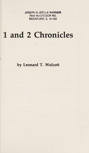 Cover of: 1 and 2 Chronicles | Leonard T. Wolcott