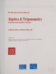 Cover of: Algebra & trigonometry | Michael Joseph Sullivan Jr.