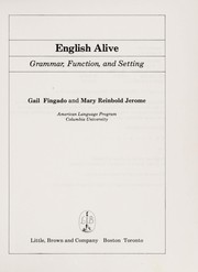 Cover of: English alive | Gail Fingado