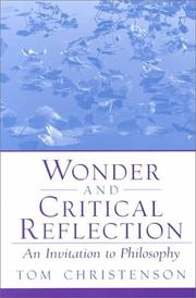 Cover of: Wonder and Critical Reflection | Tom Christenson