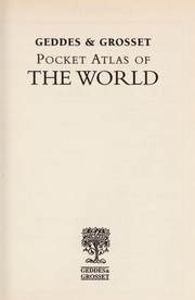Cover of: Pocket atlas of the world |