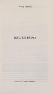 Cover of: Jeux de dupes