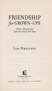 Cover of: Friendship for grown-ups