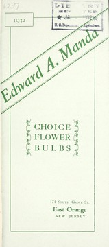 Cover of: Choice flower bulbs, 1932 | Edward A. Manda (Firm)
