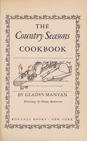 Cover of: The country seasons cookbook