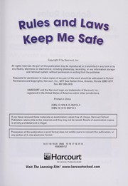 Cover of: Rules safe, below level reader grade 1 | Hsp