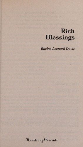 Rich blessings by Racine Leonard Davis