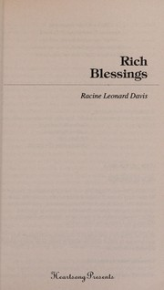 Cover of: Rich blessings | Racine Leonard Davis