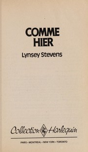 Cover of: Comme hier