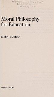 Cover of: Moral education | A. W. Kay