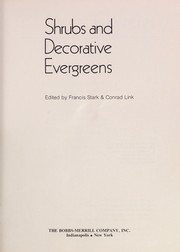 Cover of: Shrubs and decorative evergreens
