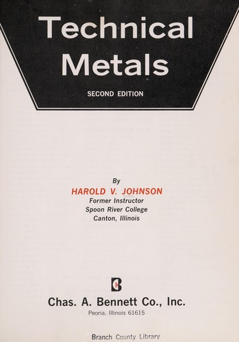Technical metals by Harold V. Johnson