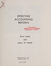 Cover of: Effective accounting reports | Bruce Joplin