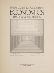 Cover of: STUDY GUIDE TO ACCOMPANY ECONOMICS | Blomqvist; Howitt
