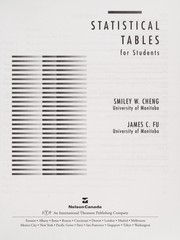 Cover of: Statistical tables for students