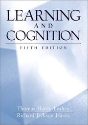 Cover of: Learning and cognition