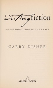 Cover of: Writing Fiction | Garry Disher