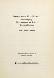 Cover of: Mathematical Ideas (Instructor's Test Manual)