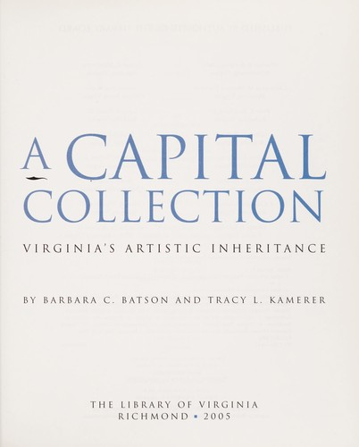 A capital collection by Barbara C. Batson