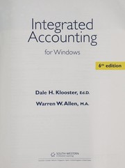Cover of: Integrated accounting for Windows | Dale H. Klooster