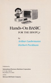 Cover of: Hands-on BASIC For The IBM PCjr |