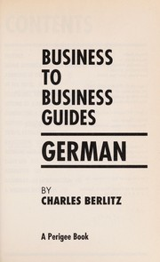 Cover of: Business to business guides. | Charles Berlitz