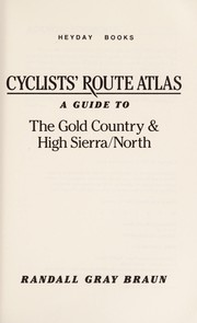 Cover of: Cyclists Route Atlas | Randall Braun