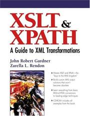 Cover of: XSLT and XPATH | John Robert Gardner
