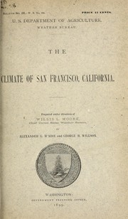 Cover of: The climate of San Francisco, California