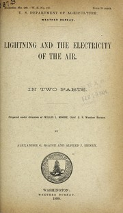 Cover of: Lightning and the electricity of the air