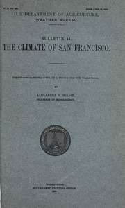 Cover of: The climate of San Francisco