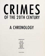 Cover of: Crimes of the 20th Century | RH Value Publishing