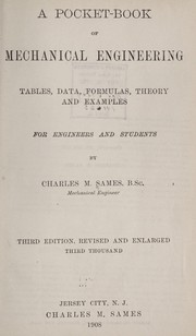 Cover of: A pocket-book of mechanical engineering