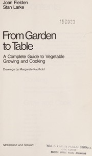 Cover of: From garden to table | Joan Fielden