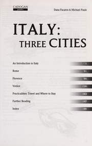 Cover of: Italy | Dana Facaros