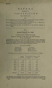 Cover of: Papers relating to vaccination in Dublin