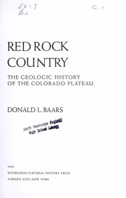 Cover of: Red rock country