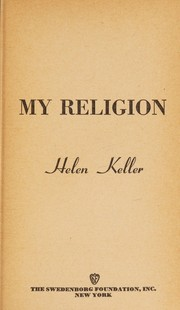 Cover of: My religion | Helen Keller