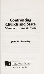 Cover of: Confronting Church and State Memoirs of An
