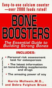 Cover of: Bone boosters | Harris H. McIlwain
