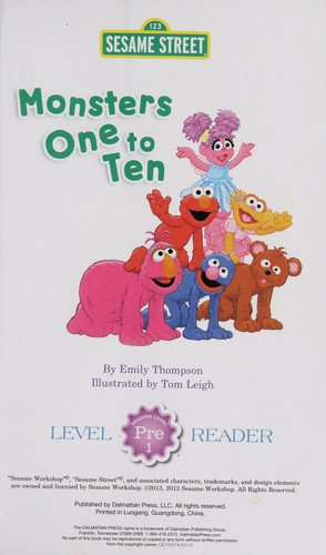 Monsters one to ten by Emily Thompson