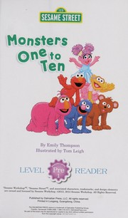 Cover of: Monsters one to ten | Emily Thompson