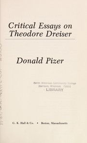Cover of: Critical essays on Theodore Dreiser |
