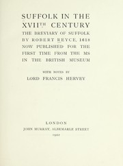 Suffolk in the XVIIth century